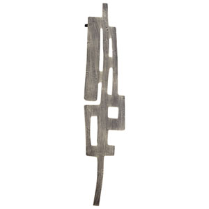 Graphite Samurai Tower Wall Decor