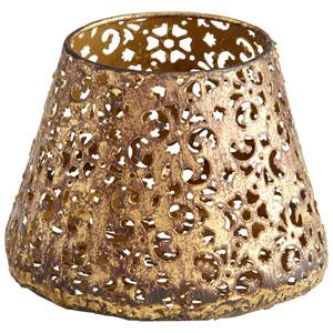 Antique Gold Small Filigree Dream Container