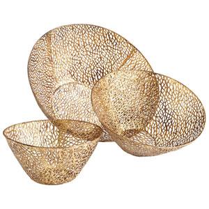 Sydne Antique Gold Bowls