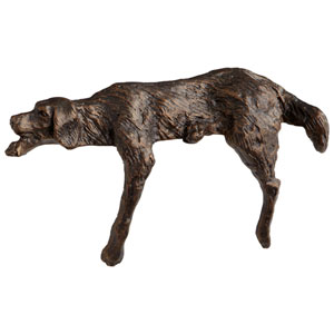 Bronze Lazy Dog Sculpture
