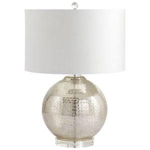 Mercury Hammered Reflections One-Light Table Lamp