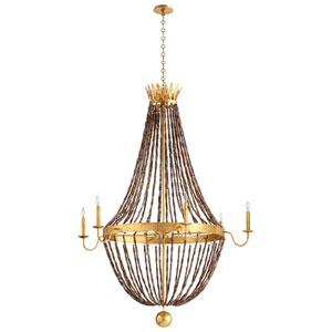 Alessia Gold Six-Light Chandelier
