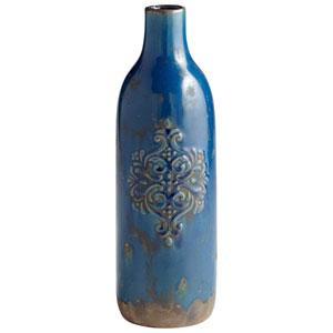 Garden Grove Blue Glaze Vase