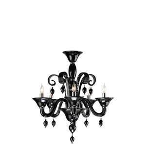 Treviso Five-Light Black Chandelier