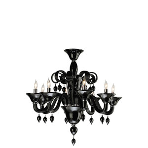 Treviso Eight-Light Black Chandelier
