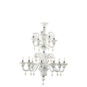 Treviso Twelve-Light Black Chandelier