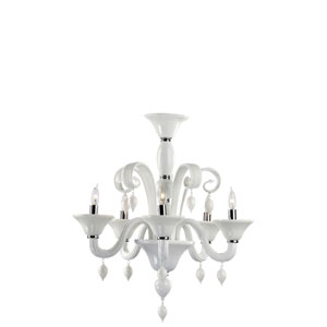 Five-Light Chrome Chandelier
