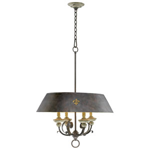 Provence Carriage House Four-Light Pendant