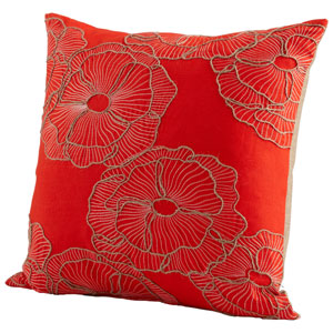 Petunia Red 18-Inch Pillow