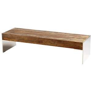 Silverton Black Forest Grove and Chrome Coffee Table