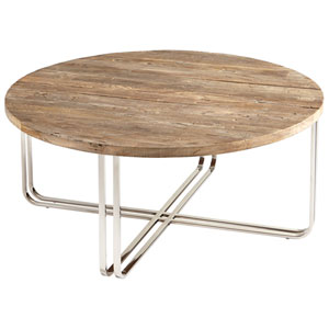 Montrose Black Forest Grove and Chrome Coffee Table