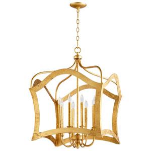 Milan Gold Eight-Light Pendant