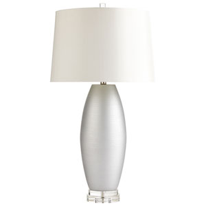 Moonlight Silver One-Light Table Lamp