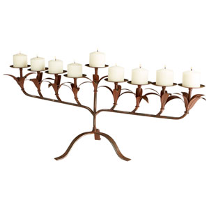 Ornella Rust Candleholder