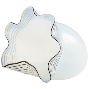 White Medium Moon Jelly Vase