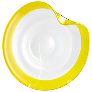 Cosmic Yellow and Clear Small Plate