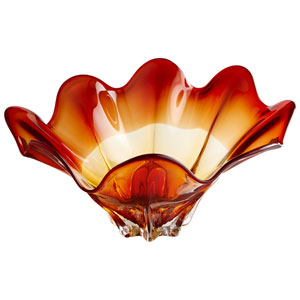 Amber Lily Bowl