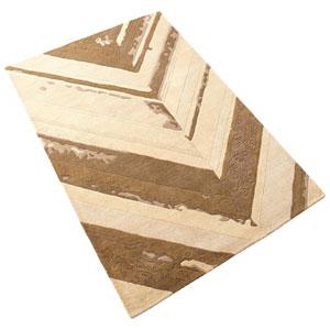 Cheveron Brown Rectangular: 7 Ft 10 In x 10 Ft 11 In Rug