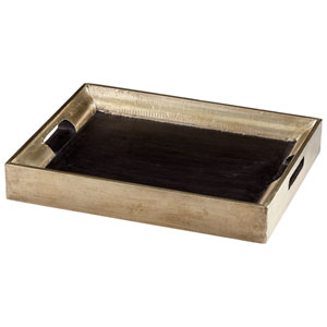 Vesper Black Square Tray