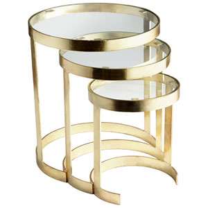 Terzina Brass Nesting Tables