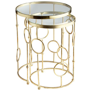 Perseus Brass Nesting Tables