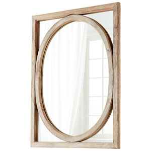 Revolo Burnt White Mirror