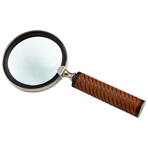 Nickel and Bone Holding Magnifier