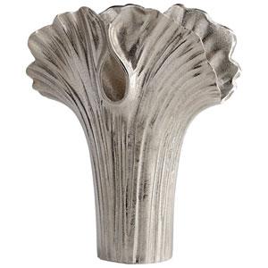 Alloy Palm Textured Nickel Large Vase