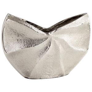 Varix Raw Nickel 8-Inch Wide Vase