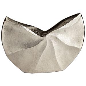 Varix Raw Nickel 12-Inch Wide Vase