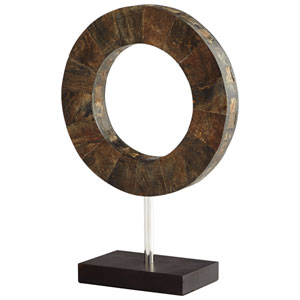 Brown and Stainless Steel Small Portal Sculpture
