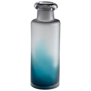 Neptune Blue and Clear Medium Vase