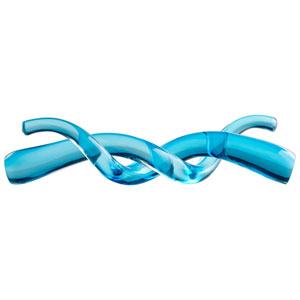Blue Double Helix Sculpture