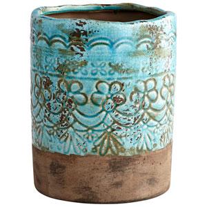 Geneva Blue Glaze Small Vase