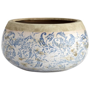 Isela Blue and White Planter
