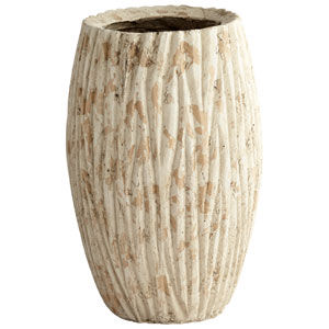 Brown Round Rotundus Large Planter