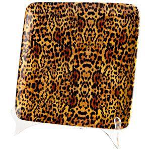 Rosette Leopard Print Small Tray