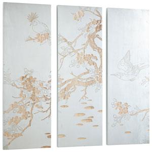 Osaka White and Gold Wall Art