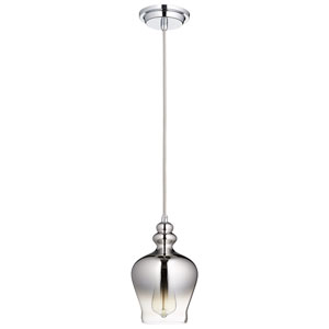 Calista Chrome One-Light Pendant