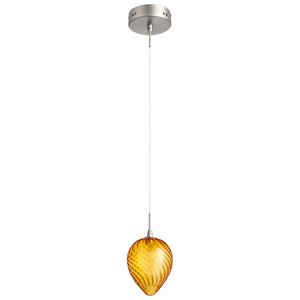 Amber One-Light Spheroid Pendant