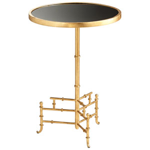 Romy Gold and Black Side Table