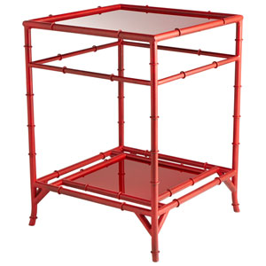 Akira Red Side Table