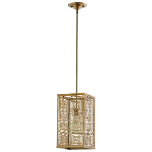 Allison Satin Brass One-Light Pendant