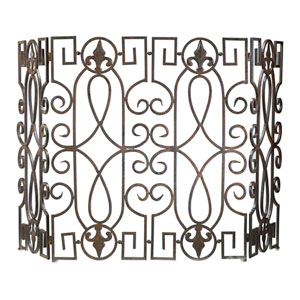Rustic Wrought Iron Fire Screen
