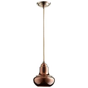 Camille Satin Copper One-Light Pendant
