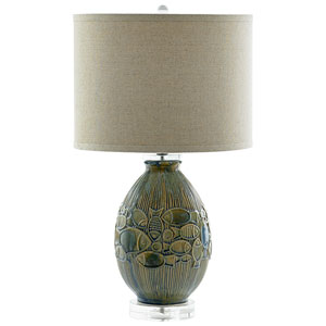 Piscine Blue One-Light Table Lamp