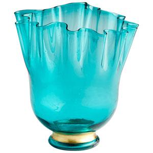 Mervine Turquoise Blue Vase