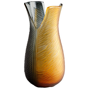 Candice Amber and Smoke Medium Vase
