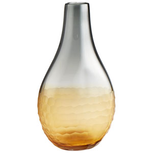 Liliana Amber and Smoked Vase