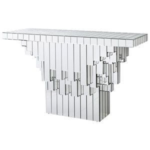 Clear Cubic Console Table